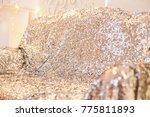texture glitter sequins silver... | Shutterstock . vector #775811893