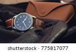 vintage mechanical wristwatch... | Shutterstock . vector #775817077