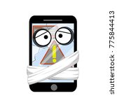 cartoon flat illustration  ... | Shutterstock .eps vector #775844413