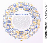 cryptocurrency concept in... | Shutterstock .eps vector #775847047
