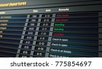 cancelled and boarding flights... | Shutterstock . vector #775854697