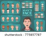 man's character constructor.... | Shutterstock .eps vector #775857787