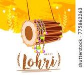 punjabi festival of lohri... | Shutterstock .eps vector #775862263