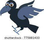 flat cartoon raven | Shutterstock .eps vector #775881433