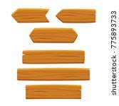wooden planks set  illustration ... | Shutterstock . vector #775893733