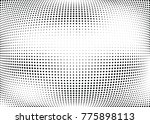 abstract halftone wave dotted... | Shutterstock .eps vector #775898113