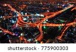 bangkok highway cross at night | Shutterstock . vector #775900303