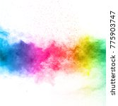 the explosion of multi colored... | Shutterstock . vector #775903747