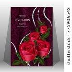 wedding invitation  valentine... | Shutterstock .eps vector #775906543