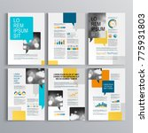 blue business brochure template ... | Shutterstock .eps vector #775931803