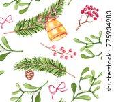 seamless pattern of watercolor... | Shutterstock . vector #775934983