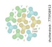 anti stress toy  vector stipple ... | Shutterstock .eps vector #775938913