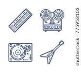 retro wave icon set | Shutterstock .eps vector #775953103