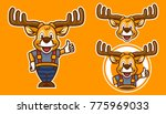 deer cartoon mascot | Shutterstock .eps vector #775969033