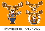 deer cartoon mascot | Shutterstock .eps vector #775971493