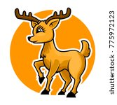deer cartoon mascot | Shutterstock .eps vector #775972123