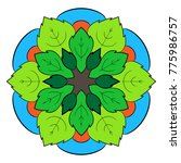 the colored mandala. a... | Shutterstock .eps vector #775986757