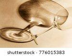 shadow from a broken glass | Shutterstock . vector #776015383