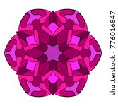 the colored mandala. a... | Shutterstock .eps vector #776016847