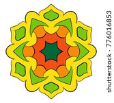 the colored mandala. a... | Shutterstock .eps vector #776016853