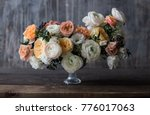 wedding bouquet ranunculus with ...   Shutterstock . vector #776017063