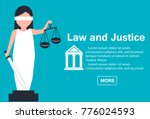 lady justice or iustitia vector ... | Shutterstock .eps vector #776024593