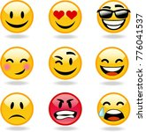 vector emoticons collection  | Shutterstock .eps vector #776041537
