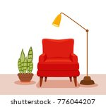 interior with an armchair... | Shutterstock .eps vector #776044207