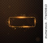 golden frame with lights... | Shutterstock .eps vector #776050813