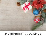 christmas holidays composition... | Shutterstock . vector #776052433