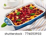 cottage cheese casserole with... | Shutterstock . vector #776053933