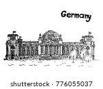 quick sketch old building of...   Shutterstock .eps vector #776055037