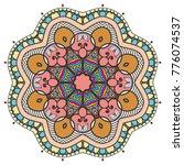 mandala flower decoration  hand ... | Shutterstock .eps vector #776074537