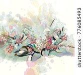 beautiful floral vector... | Shutterstock .eps vector #776085493