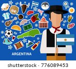 argentina concept background ... | Shutterstock .eps vector #776089453