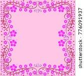 if you need frame flower  frame ... | Shutterstock .eps vector #776091937