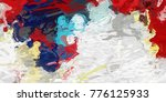 abstract background with color... | Shutterstock . vector #776125933
