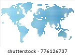 abstract computer graphic world ... | Shutterstock .eps vector #776126737