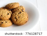 chocolate chip cookies on... | Shutterstock . vector #776128717