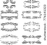 collection of calligraphic... | Shutterstock . vector #776141323