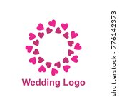 elegant wedding logo design... | Shutterstock .eps vector #776142373