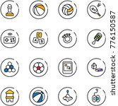 line vector icon set   pawn...   Shutterstock .eps vector #776150587