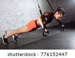 Women Doing Push Ups Training...