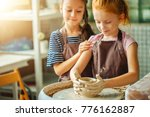 ceramic working process with... | Shutterstock . vector #776162887