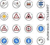 line vector icon set  ... | Shutterstock .eps vector #776165497