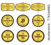 seal label premium quality on... | Shutterstock .eps vector #776166883
