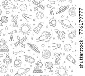 seamless pattern on the theme... | Shutterstock .eps vector #776179777