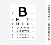 eyes test chart tests the adult ... | Shutterstock .eps vector #776180593