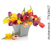 Tulip Flower Arrangement In...