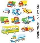 vector set of toy cars  trucks...   Shutterstock .eps vector #776195533